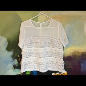Never worn Greylin Anselma Crochet top